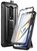 SupCase Unicorn Beetle Pro Series Case Designed for OnePlus 7 Pro, Full-Body Rugged Holster Kickstand OnePlus 7 Pro Case with Built-in Screen Protector (Black)