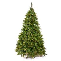Vickerman Cashmere Pine Green Christmas Tree with 100 Multicolored Dura-Lit, 3-Feet