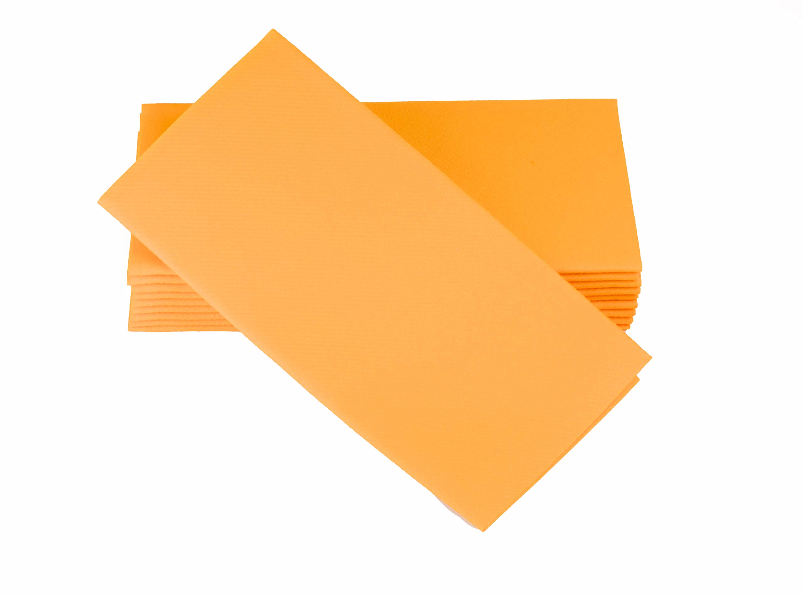 """Simulinen Colored Napkins - Decorative Cloth Like & Disposable, Dinner Napkins - Orange - Soft, Absorbent & Durable - 16""""x16"""" - Great for Any Occasion! - Box of 50"""