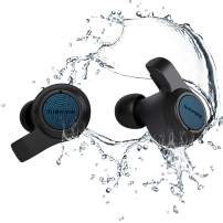 Jabees Firefly.2 Touch TWS Earbuds Waterproof & Dustproof IP67 10 Hours Playtime, Transparency Mode Water Sports Earphone Dual Microphones Headset Qi-Enabled Wireless Charging Case (Black)