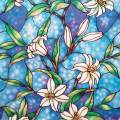 """Coavas Stained Glass Window Film Privacy Static Cling Film Frosted Glass Film for Home Bathroom Bedroom Church 17.7"""" x 157.5"""""""