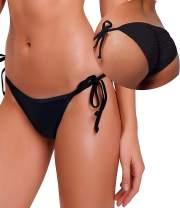KIWI RATA Womens Swimwear Sexy Tie Side Sweet Heart Brazilian Bikini Bottom Hipster Swimsuit Beachwear Swimwear