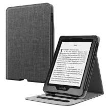 Fintie Flip Case for Kindle Paperwhite (Fits All-New 10th Generation 2018 / All Paperwhite Generations) - Slim Fit Vertical Multi-Viewing Stand Cover with Auto Sleep/Wake, Denim Charcoal