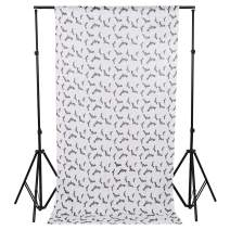 TRLYC Sequin Backdrop Bat Photo Booth Backdrop for Halloween,4x7FT