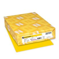 Wausau Astrobrights Cardstock, 65 lb, 8.5 x 11 Inches, Solar Yellow, 250 Sheets (22731)