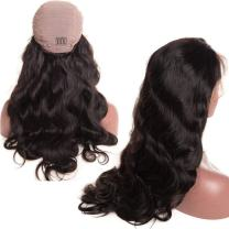 Younsolo Body Wave Wig 10 inch Glueless Brazilian Body Wave Lace Front Wigs Pre Plucked with Baby Hair for Black Women 130% Density Virgin Remy Hair 13x4 HD Transparent Lace Wigs
