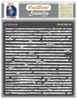 CrafTreat Pattern Stencils for Painting on Wood, Canvas, Paper, Fabric, Floor, Wall and Tile - Corrugated - 6x6 Inches - Reusable DIY Art and Craft Stencils - Pattern Stencil