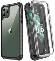 Eonfine Designed for iPhone 11 Pro Max Case, Full-Body Heavy Duty Protection with Built-in Screen Protector Rugged Armor Shockproof Cover for iPhone 11 Pro Max 6.5 Inch 2019 Release (Black/Clear)