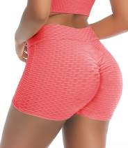COMFREE Butt Scrunch Shorts Women Ruched Butt Lifting Shorts Booty Yoga Shorts Running Workout