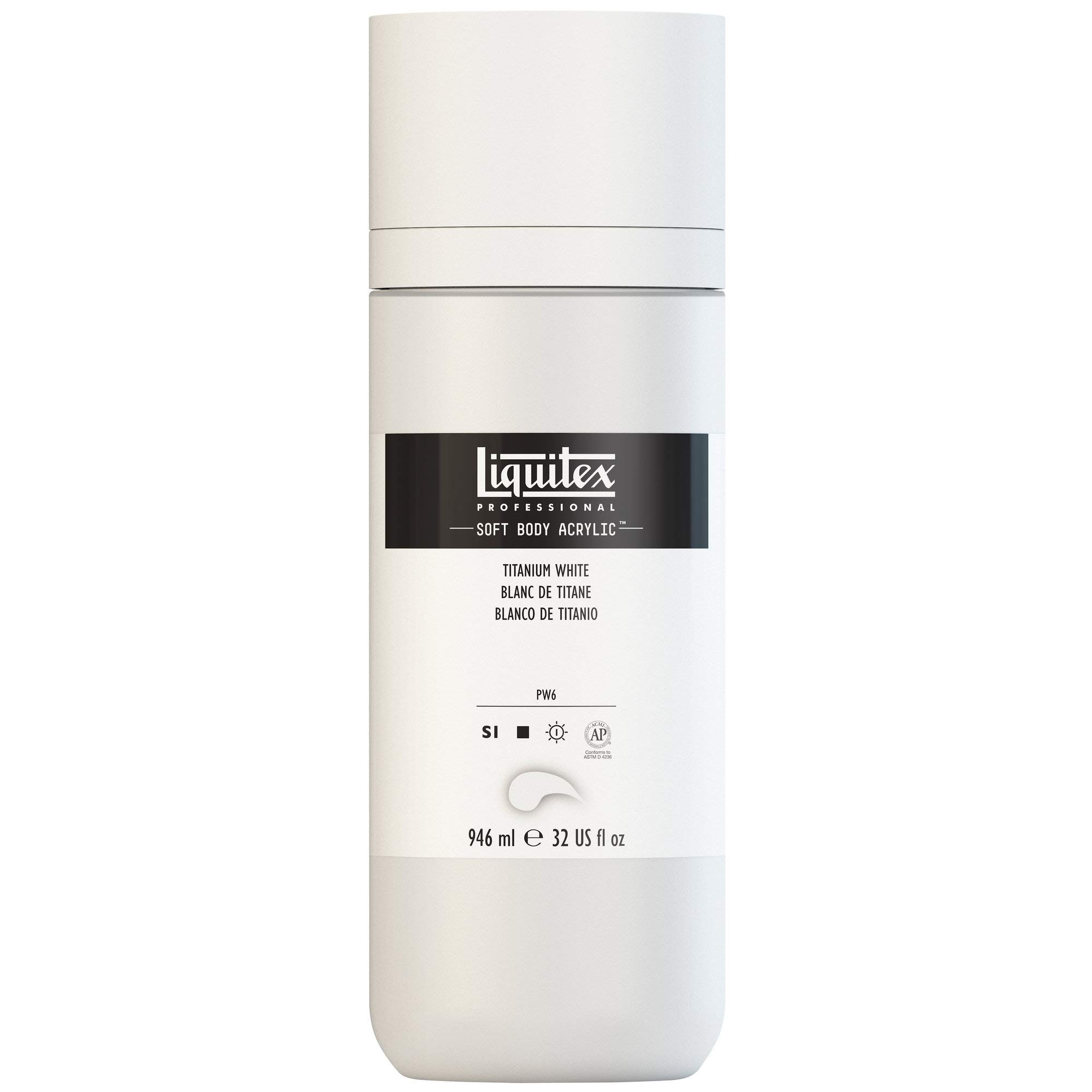 Liquitex Professional Soft Body Acrylic Paint 32-oz bottle, Titanium White