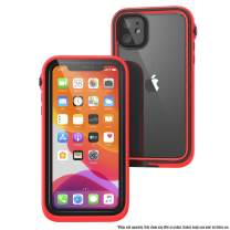 Waterproof Case for iPhone 11 with Lanyard, Clear Back, Military Grade Quality, 33ft Waterproof, 6.6ft Drop Proof, Built-in Screen Protector, for iPhone 11 ONLY - Retail Packaging - Flame Red
