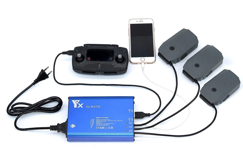 Signstek FSLabs DJI Mavic Pro 5 in 1 Rapid Battery Charger Smart Multi Battery Intelligent Charging Hub