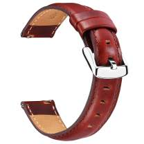 BINLUN Leather Watch Bands Soft Leather Quick Release Replacement Watch Straps for Men and Women in Black Brown Red 12mm 13mm 14mm 17mm 18mm 19mm 20mm 22mm