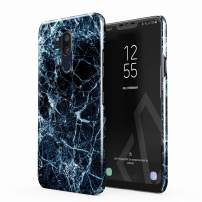BURGA Phone Case Compatible with LG G7 - Dark Ice Blue and Black Marble Cute Case for Girls Thin Design Durable Hard Shell Plastic Protective Case