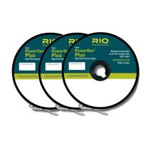 Rio Fly Fishing Tippet Power Flex-Plus Tippet 3 Pack 3X-5X Fishing Tackle, Clear
