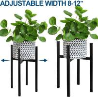 """Adjustable Plant Stand, Angela&Alex Indoor Mid Century Plant Holder Modern Metal Planter Fits Medium & Large Pots Sizes for Indoor Outdoor Planters- Adjustable Width 7"""" to 12"""" (Pot Not Included)"""