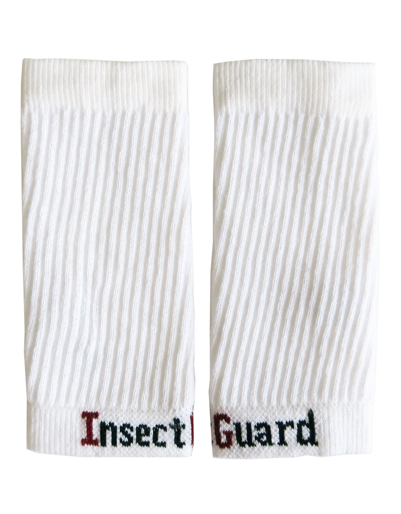 """InsectGuard - Permethrin Treated Tick & Mosquitoes Insect Repellent 7"""" Long Pair of Sleeves/Gaiters (White) One Size Fits All Up to Adult Medium"""