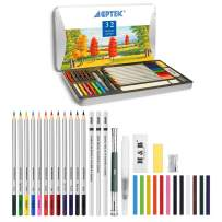 Watercolor Pencils, AGPtEK 32 Watercolor Pencils Set with Vibrant Colors, Safe, Non-Toxic and Durable, Ideal for Professionals, Beginners, Adults and Kids, Perfect for Artists