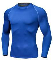 Outto Men's Long Sleeve Running Shirts Compression Base Layer Sports Clothing