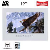 "Soulaca 19"" White IP66 Waterproof Bathroom LED TV T190FS-W2"