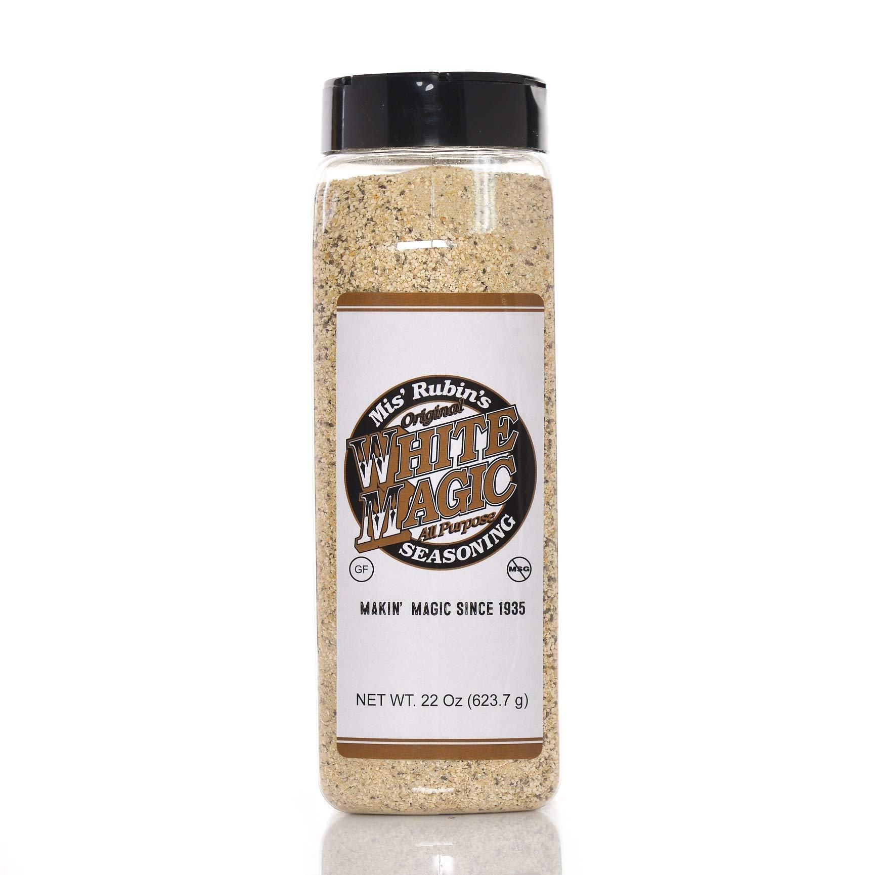 Gourmet All-Purpose Seasoning (Large) - 22 oz. Original White Magic Dry Rub Spice Powder Best Served on Seafood, Vegetables, Grilled Chicken, Boneless Pork Chops, and Popcorn