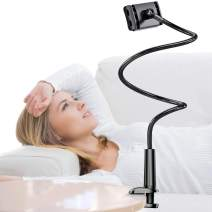 TORRAS Cell Phone Holder for Bed, 43.31 inch Gooseneck Long Arm Phone Stand Compatible with iPhone 11 Pro Max/XR/Xs Max/X, Samsung Galaxy S20 Ultra / S10 / S9, Kindle, Nintendo Switch and More