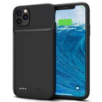 Smiphee Battery Case for iPhone 11 Pro Max, 5000mAh Ultra Slim Portable Protective Charging Case Extended Rechargeable Battery case for iPhone 11 Pro Max (6.5 Inch) Black