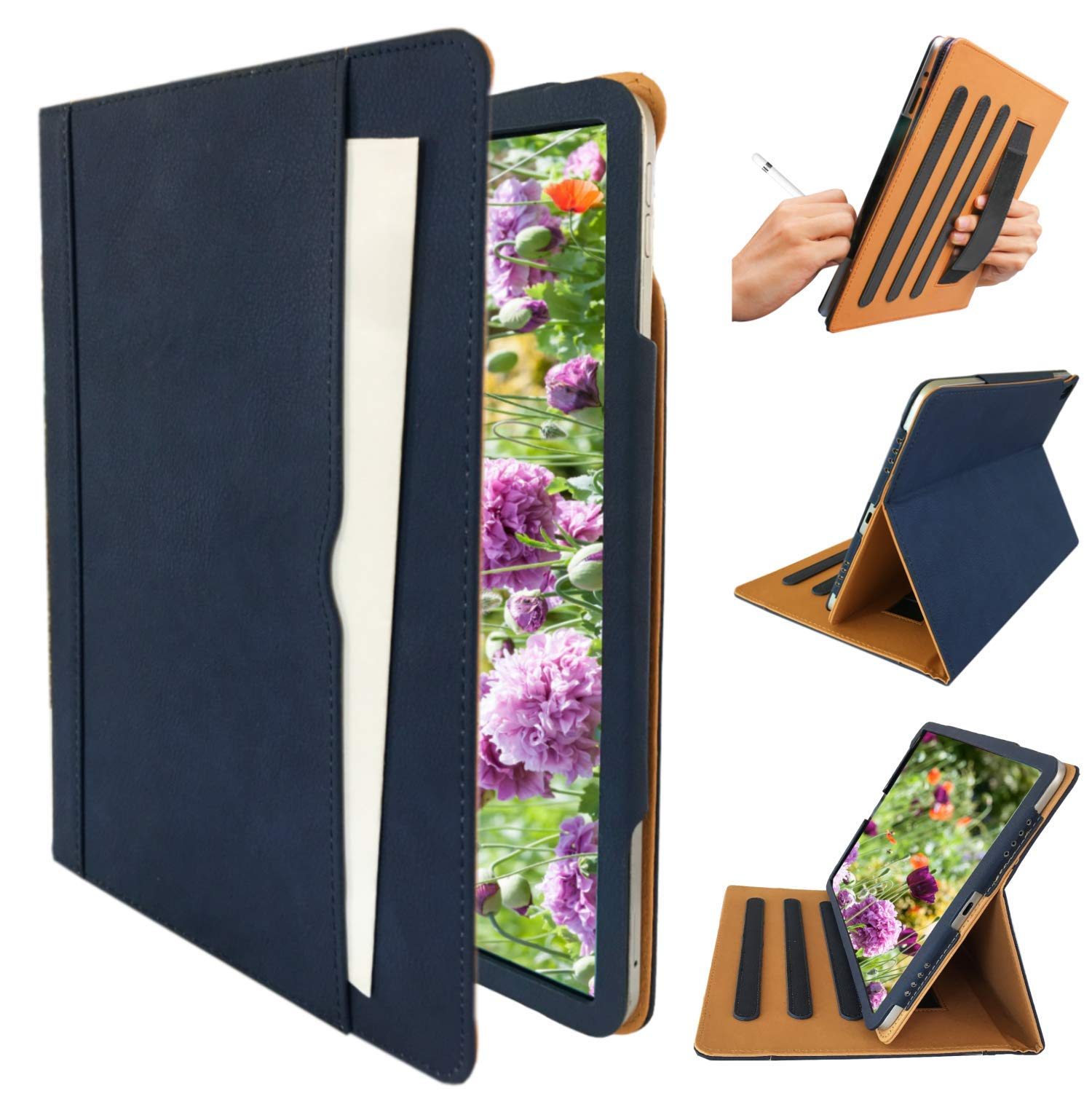 """Black Ipad Case for iPad 9.7"""" 2018/2017 Release Also Fit for iPad Air 1st 2013 Release Models A1893 A1954 A1822 A1823 A1747 A1475 MR6Y2LL/A MR7C2LL/AA MRM82LL/A MRJN2LL/A MRJP2LL/A (Blue)"""