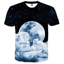 EOWJEED Unisex Casual 3D Pattern Printed Short Sleeve T-Shirts Top Tees
