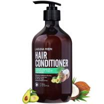 Avocado and Coconut Hair Conditioner for Damaged Dry Hair, Sulfate & Paraben-Free Hair Deep Conditioner with Sweet Almond Oil & Argan Oil to Moisturize & Nourish for Soft,Smooth Shiny Hair, 16.9oz