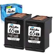 HavaTek Re-Manufactured Ink Cartridge Replacement for HP 65XL 65 XL Work with HP Envy 5055 5052 5058 DeskJet 3755 3752 2652 2655 2622 3720 3722 2624 3758 AMP 100 Printer (2 Black)