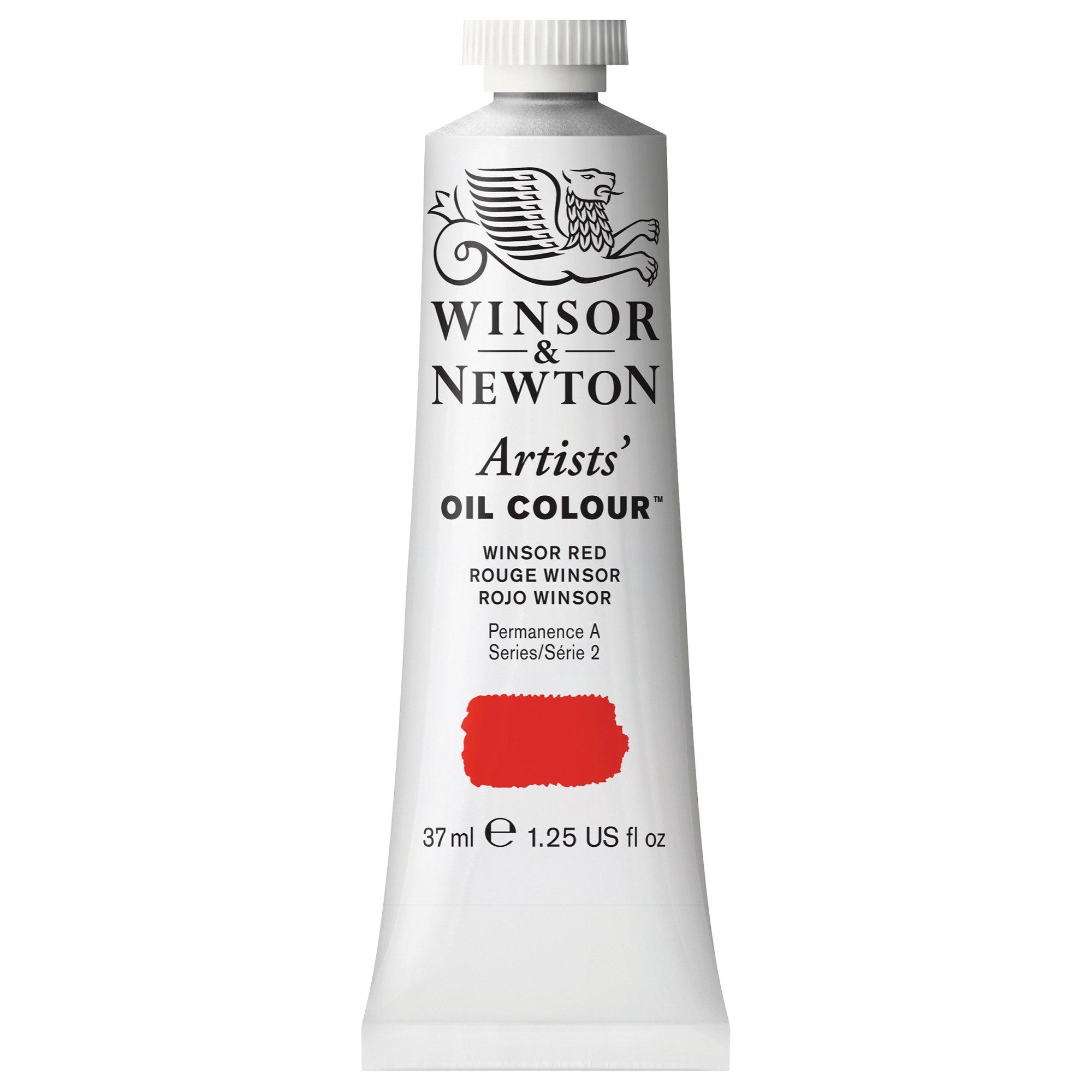 Winsor & Newton Artists' Oil Colour Paint, 37ml Tube, Winsor Red