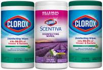 Clorox Disinfecting Wipes Value Pack, Bleach Free Cleaning Wipes, 3 Pack (package May Vary)