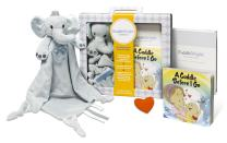 CuddleBright Experience Elephant Lovie Kit, Includes Security Blanket, Perfect Baby Gift for Newborns/Toddlers, Created by Child Development Experts