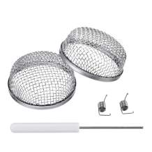 """Miady RV Furnace Vent Screen - 2 Pack Flying Insect Bug Cover Camper Heater Exhaust Vents - 2.8"""" Stainless Steel Mesh Screens - Installation Tool Included"""