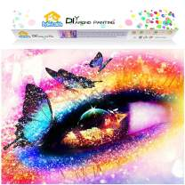 Dylan's Cabin DIY 5D Diamond Painting Kits for Adults,Full Drill Embroidery Paint with Diamond for Home Wall Decor(Pretty eye/12x16inch)