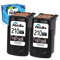 HavaTek Remanufactured PG-210 XL 210XL Ink Cartridge Replacement for Canon PG-210XL 210 XL Work with Canon MP240 MP480 IP2702 MP495 MX410 MX340 MP499 MP280 MX360 MX420 Printer (2 Black)