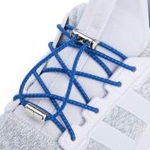 NEXCURIO No Tie Shoelaces for Kids and Adults, Tieless Elastic Shoelaces for Sneakers Boots Running Shoes