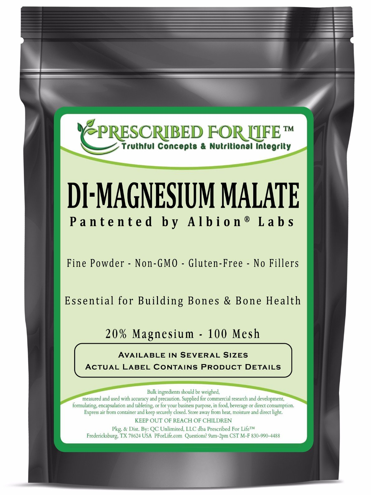 Magnesium - DiMagnesium Malate Powder - 20% Mg by Albion, 5 kg
