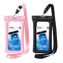 """Mpow 084 Waterproof Phone Pouch Floating, IPX8 Universal Waterproof Case Underwater Dry Bag Compatible iPhone 11 Pro Max/XS Max/XR/X/8P/7P Galaxy S10/S9 Note 10/9 Google Pixel Up to 6.5"""" (Black+Pink)"""