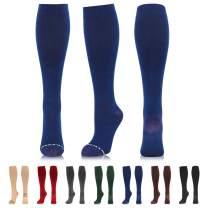 NEWZILL Copper-Infused Cotton Compression Sock (15-20 mmHg) for Men & Women