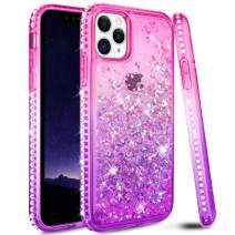 Ruky Case for iPhone 11 Pro Case, iPhone 11 Pro Glitter Case Bling Colorful Quicksand Series Soft TPU Flowing Liquid Floating Sparkle Diamond Girls Women Phone Case for iPhone 11 Pro (Pink Purple)
