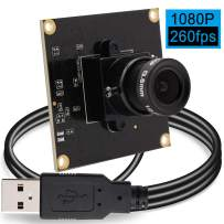 Camera USB 2MP Web Camera Module High Frame 640x360@ 260fps USB Webcamera 1080P Web Camera Module for Surveillance Industrial Home Web Camera USB 2.0 for PC,ATM,Mobile Phone,Kiosk High Speed Webcams