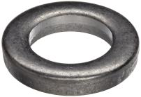 18-8 Stainless Steel Round Shim, Unpolished (Mill) Finish, Annealed, Hard Temper, ASTM A666, 1.5mm Thickness, 12mm ID, 18mm OD (Pack of 10)