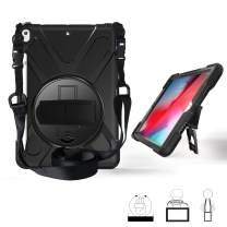 "iPad Air Case, KIQ Shockproof Protective Full Body Rugged Cover Heavy Duty Case for Apple iPad Air 3rd Gen (2019) / iPad Pro 10.5"" (2017) (Shield Black)"