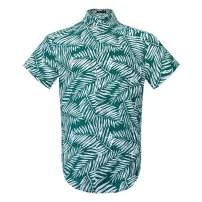 Hawaiian Shirts Men's Coconut Tree Flower Printed Aloha Beach Party Holiday Camp Casual Palm Short Sleeve