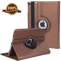 New iPad 7th Generation Tablet Case (10.2-inch,2019 Releases), 360 Degree Rotating Multi-Angle Viewing Folio Stand Cases with Pencil Holder for iPad 10.2 7th Gen (Brown)