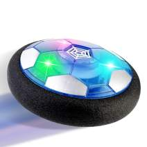 Hover Soccer Ball Toys for Kids with Colorful LED Lights and Protective Foam Bumper Indoor Playing Football Toys Rechargeable