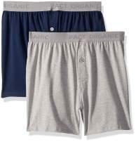 Pact Men's Organic Cotton Knit Boxers Underwear (2 Pack)