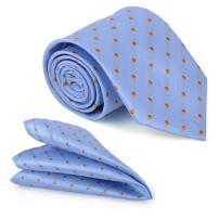Men's Polka Dot Pocket Square Necktie Set Business Wedding Party Gift Box ciciTree